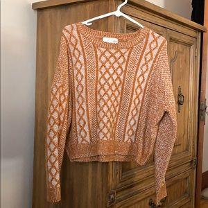 crop fit oversized grandpa sweater